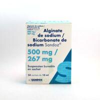 Alginate De Sodium/bicarbonate De Sodium Sandoz 500 Mg/267 Mg, Suspension Buvable En Sachet à Bordeaux