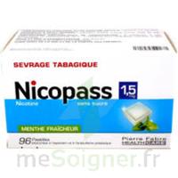 Nicopass 1,5 Mg Pastille Sans Sucre Menthe Fraîcheur Plq/96 à Bordeaux