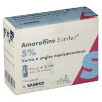 Amorolfine Sandoz 5 % V Ongles Médicamenteux Fl/2,5ml+20spatules à Bordeaux