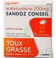 Acetylcysteine Sandoz Conseil 200 Mg Glé Solution Buvable En Sachet-dose 20sach/1g à Bordeaux