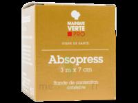 Absopress Bande Contention Cohésive 3m X 7cm – Blanc à Bordeaux