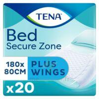 Tena Bed Wings Alèze Bordable 80x180cm Sachet/20 à Bordeaux