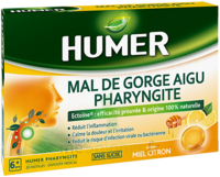 Humer Pharyngite Pastille Mal De Gorge Miel Citron B/20 à Bordeaux